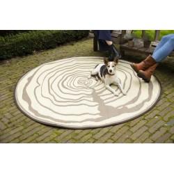 Kerti szőnyeg  Kör alakú fatörzs mintás