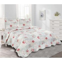 Ágytakaró + 2db párnahuzat virágos