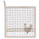 Edényalátét 20x20cm, pamut - Country Side Chicken