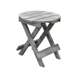 Fa kerek asztalka