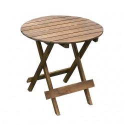 Fa kerek asztalka barna