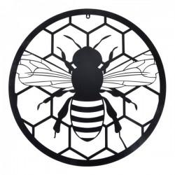 Fém fali dekoráció Méhecskés