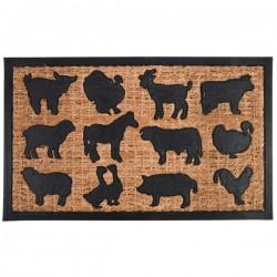 Kókuszrost gumi lábtörlő Farm állatos