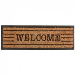 Kókuszrost gumi lábtörlő Welcome