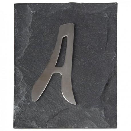 Házszám rozsdamentes acél palatáblán