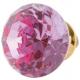 Ajtófogantyú 3cm üveg rózsaszín