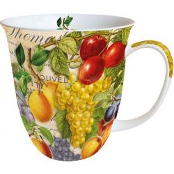 Porcelán bögre őszi Gyümölcsök 4dl