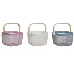 Fém tárolókosár 3 szín