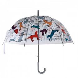 Automata esernyő kutyás cicás mintás