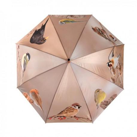 Automata esernyő nagyméretű madaras mintás