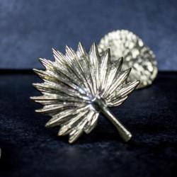 Ajtófogantyú fém arany Pálmalevél forma
