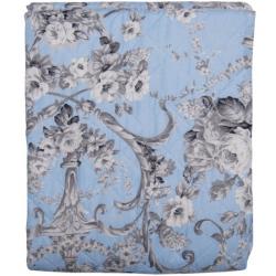 Steppelt ágytakaró kék szürke virágos 240x260cm