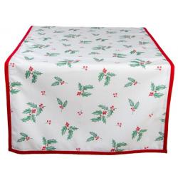 Asztali futó terítő 50x140cm Holly Christmas