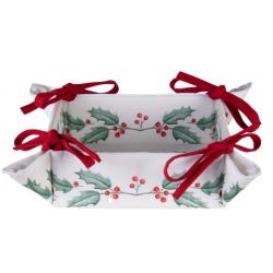 Kenyérkosár textil Holly Christmas