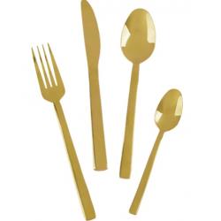 Evőeszköz készlet 16db rozsdamentes acél Arany színű