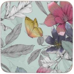 Parafa poháralátét 6db Pillangós virágos