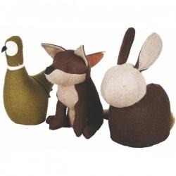 Textil ajtókitámasztó 3 féle állat figura