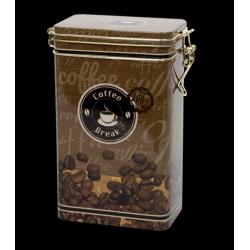Konyhai csatos fémdoboz Coffee