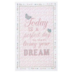 "Konyharuha 50x85cm,pamut - ""Today is a perfect Day"""