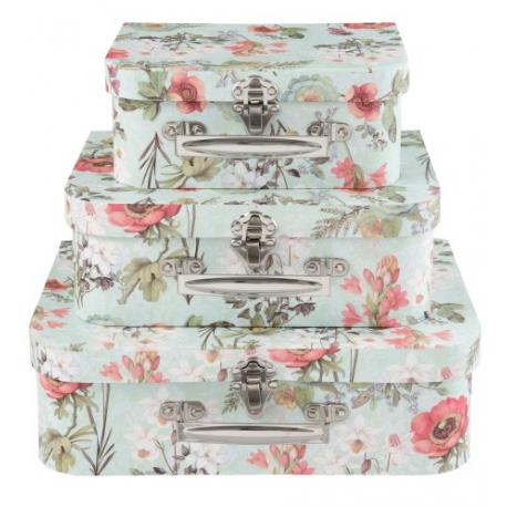 Kartondoboz szett 3db Bőrönd alakú
