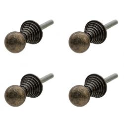 Ajtófogantyú fém gömb 4 db szettben