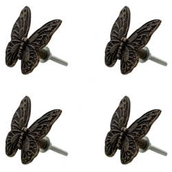 Ajtófogantyú fém Pillangó 4 db szettben