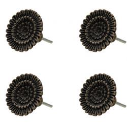 Ajtófogantyú fém virág forma 4 db szettben