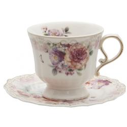 Porcelán csésze + alj 200ml virágos
