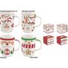 Porcelán bögre 4 féle választható karácsonyi mintával 370ml