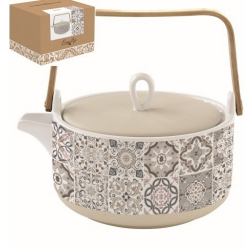 Porcelán teáskanna 850ml Casa Dekor szürke