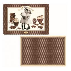 Műanyag tányéralátét kétoldalas, Chocolate Vintage