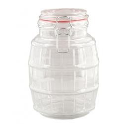 Tároló üveg csatos,13x19cm