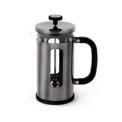 Kávé,- és teafőző, üveg belsővel,rozsdamentes, 1000ml-8csészés, króm, La Cafetiére