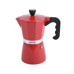 Aluminium kávéfőző 300ml (6 személyes),Classic Espresso,piros,La Cafetiére