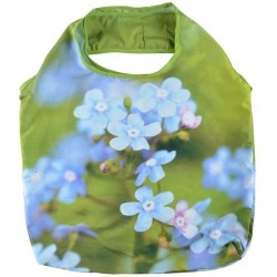Összehajtható bevásárló táska, Nefelejcs