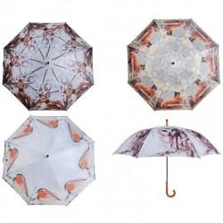 Sétapálca esernyő - vörösbegy (95*120)