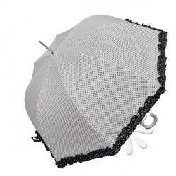 Sétapálca esernyő – fehér, fekete pöttyös