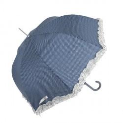 Sétapálca esernyő – kék, fehér pöttyös