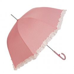 Sétapálca esernyő – rózsaszín, fehér pöttyös