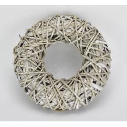 Köteles vessző koszorú fém vázon 27cm