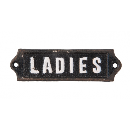 "Öntöttvas ajtótábla "" Ladies"" felirattal"