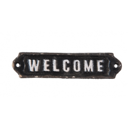 "Öntöttvas ajtótábla "" Welcome "" felirattal, 15x1x3cm"