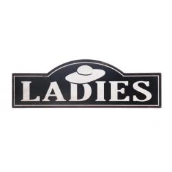 "Fém ajtótábla NAGY 48x1x16cm,""LADIES"""