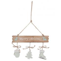 """Fa ajtótábla """" Merry Christmas """" , 24x35cm"""