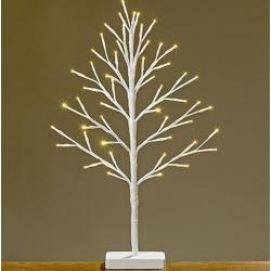 Világító fa fehér LED-es, fém 60cm