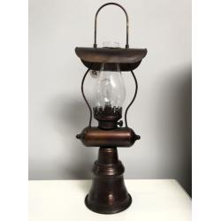 LED lámpás bronzos fém és üveg, 20x14,5x59cm
