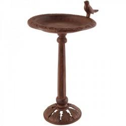 Öntöttvas barna madáritató állvány, madárkával