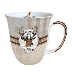 Porcelán bögre 0,4l - Wild Deer