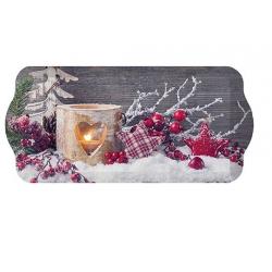 Műanyag tálca 17x34cm - Birch Candlelight