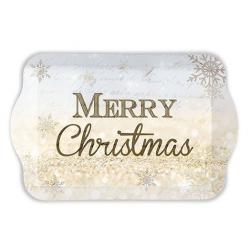 Műanyag tálca 15x23cm - Merry Christmas